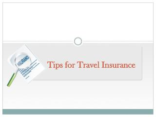 Tips for Travel Insurance