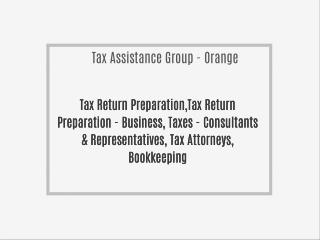 Tax Assistance Group - Orange