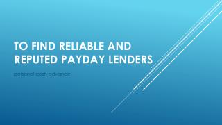 payday loan with saving account