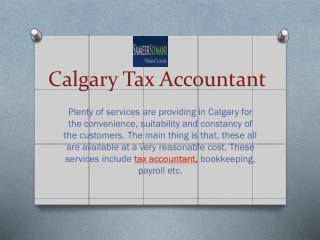 Calgary Tax Accountant