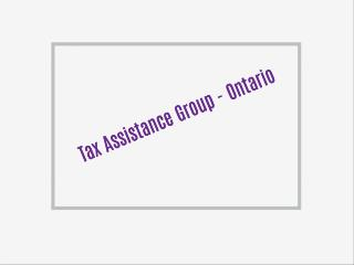 Tax Assistance Group - Ontario