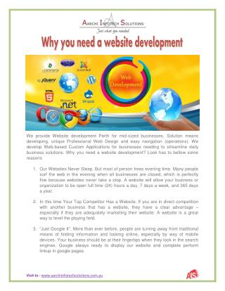 Why you need a website development