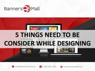 5 things to be considered while designbing Banners