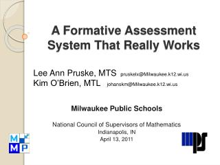 A Formative Assessment System That Really Works