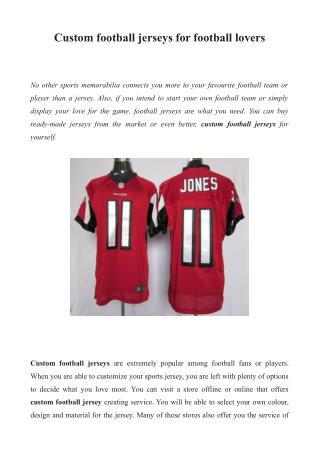 Personalized football jerseys