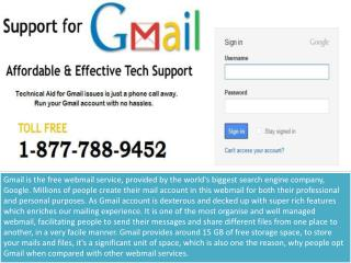 Call Gmail Support Number 1-877-788-9452
