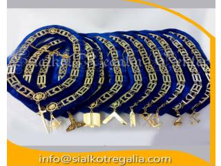 Blue Lodge officer chain collar with jewels