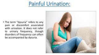 How to solve Painful Urination By Uridoc