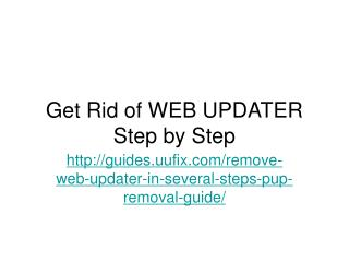 Get Rid of WEB UPDATER Step by Step
