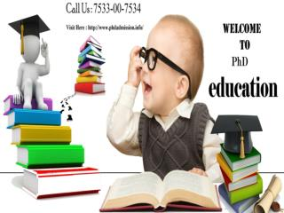 Distance Learning Admission in PhD Education: 91-7533-00-7534