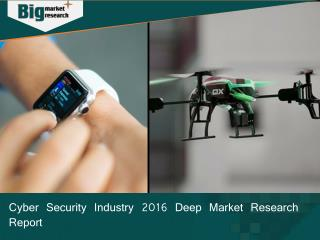 Cyber Security Industry 2016 Deep Market Research Report