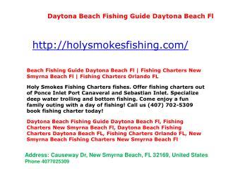 Daytona Beach Fishing Charters Daytona Beach FL, Fishing Charters Orlando FL, Fishing Charters - Orlando FL