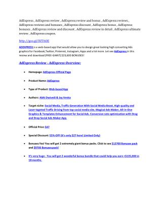 AdExpress Review & GIANT Bonus