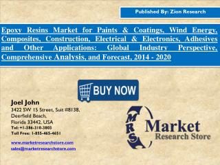 Epoxy Resins Market Growth, Trends, Forecast and Value Chain 2015-2020