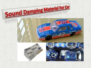 Sound Damping Material For Car