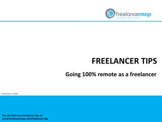 100% Remote working as a freelancer