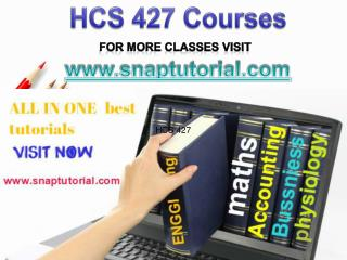 HCS 427 Academic Success/snaptutorial