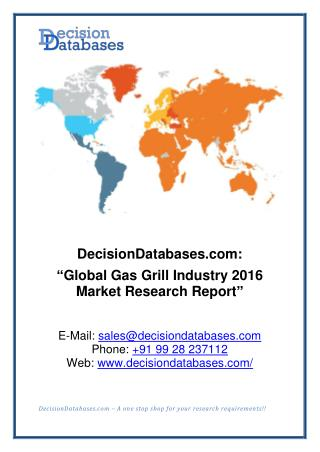 Gas Grill Market International Analysis and Forecasts 2020