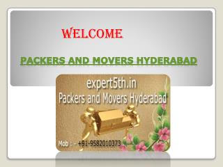 Expert5th Packers and Movers in Hyderabad - CUSTOMIZED SHIFTING SERVICES