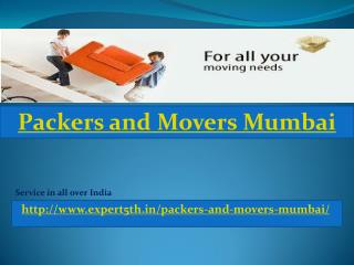 Expert5th Packers and Movers in Mumbai - Competitive rates Services