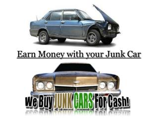 Earn Money with your Junk Car