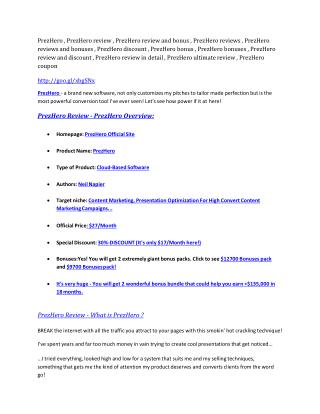 PrezHero review in detail – PrezHero Massive bonus