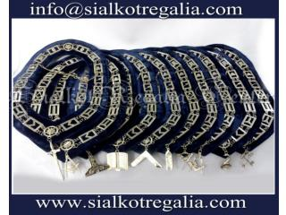 Blue Lodge chain collar silver jewels