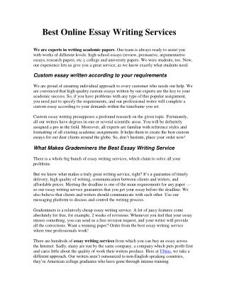 Cheap Entrance Essay Writing