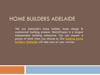 Leading Home Builders Adelaide Services