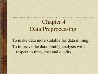 Chapter 4 Data Preprocessing