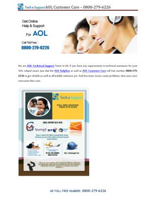 Aol technical support - 0800-279-6226