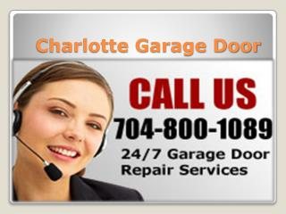 Charlotte Garage Door - Installation & Spring Repair