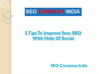 5 Tips To Improve Your SEO With Help Of Social Media