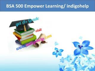 BSA 500 Empower Learning/ indigohelp