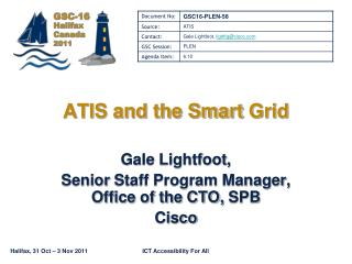 ATIS and the Smart  Grid