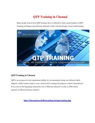qtp training in chennai