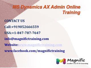 Microsoft Dynamics Ax Admin Online Training in UK
