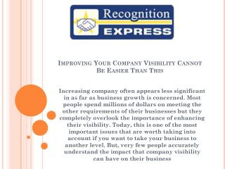 Improving Your Company Visibility Cannot Be Easier Than This