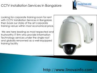 CCTV Installation Services in Bangalore