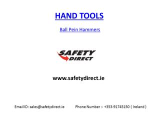 Ball Pein Hammers in Ireland at safetydirect.ie