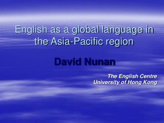English as a global language in the Asia-Pacific region