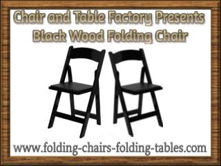 Black Wood Folding Chair - Folding Chair Larry Hoffman