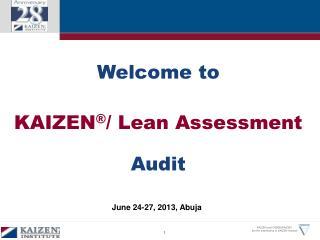 Kaizen Lean Assessment Audit