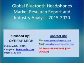 Global Bluetooth Headphones Market 2015 Industry Growth, Shares, Analysis, Study, Research and Development