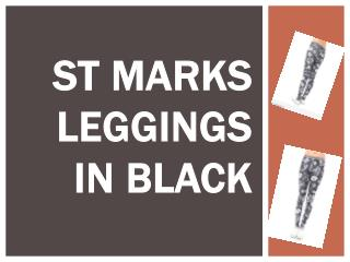St Marks Leggings in Black