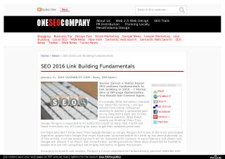 Link Building Fundamentals for SEO 2016