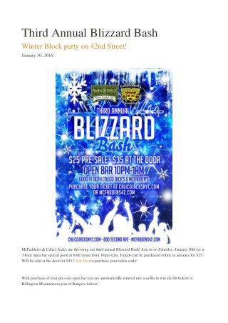 Third Annual Blizzard Bash - McFaddens NYC