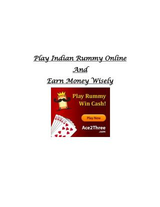 Play 13 Card Games Online and Earn Money Wisely