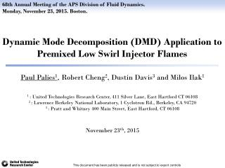 Dynamic Mode Decomposition (DMD) application to premixed Low Swirl Injector flames