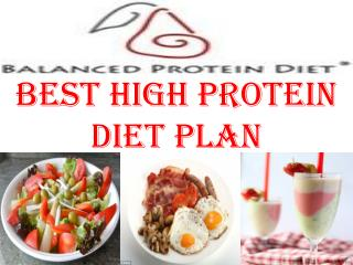 Best High Protein Diet Plan